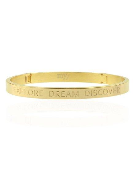 EXPLORE DREAM DISCOVER BANGLE GOLD