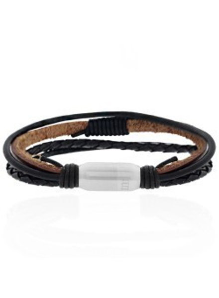 MR JEWELLERY MIXED LEATHER BRACELETS