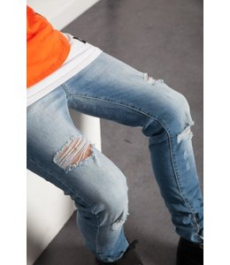 SIXTH JUNE MEN ZIPPER ANKLE JEANS