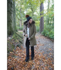 AIRFORCE LUXURY FISHTAIL PARKA OLIVE GREEN