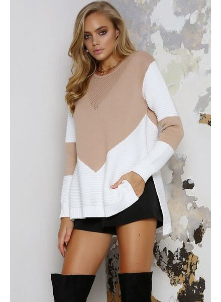 RUNAWAY THE LABEL CITY SWEATER NUDE