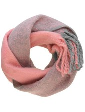 DUO COLOR KNITTED SCARF PINK/GREY