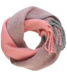 MY JEWELLERY DUO COLOR KNITTED SCARF PINK/GREY