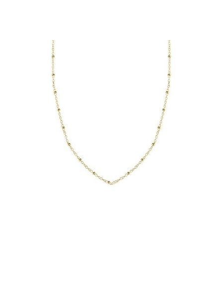 TINY NECKLACE BEADS SHORT GOLD