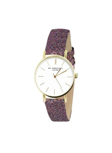 MY JEWELLERY LIMITED WATCH SMALL 2.0 - BROWN GLITTER/GOLD