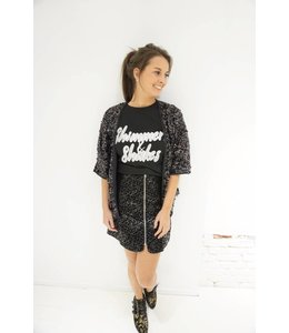 SHORT PAILLETTES VEST