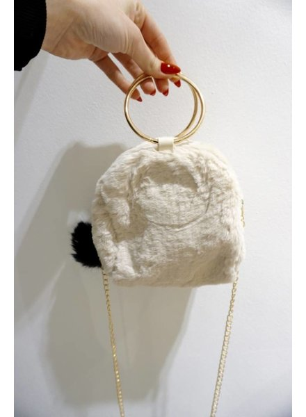 FLUFFY CLUTCH BEIGE