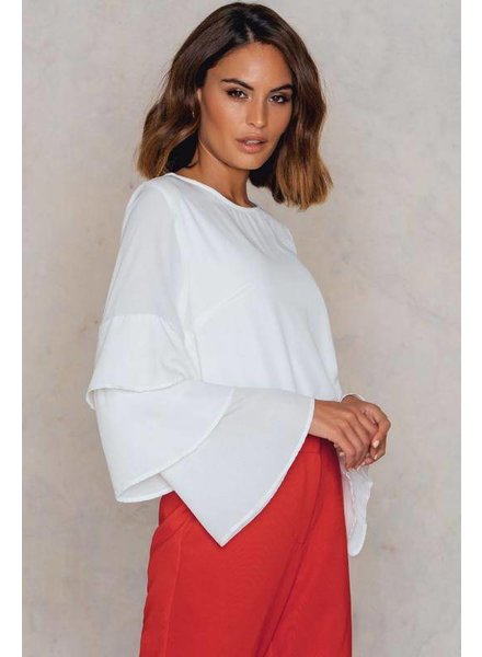 CATHARINA FRILL BLOUSE WHITE