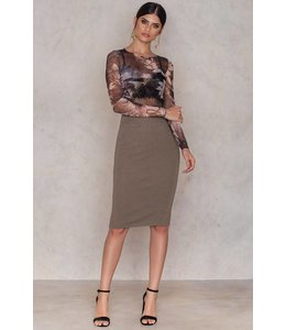 FANNY KNITTED SKIRT CLAY GREY