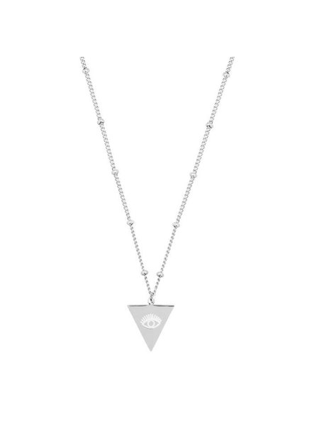 PENDANT NECKLACE TRIANGLE EYE SILVER