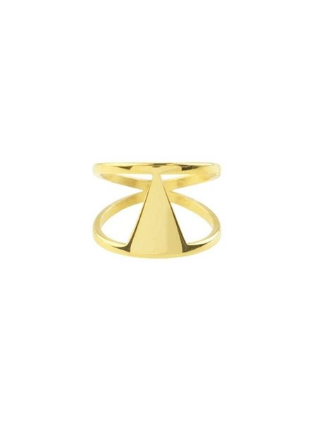 DOUBLE TRIANGLE RING GOLD