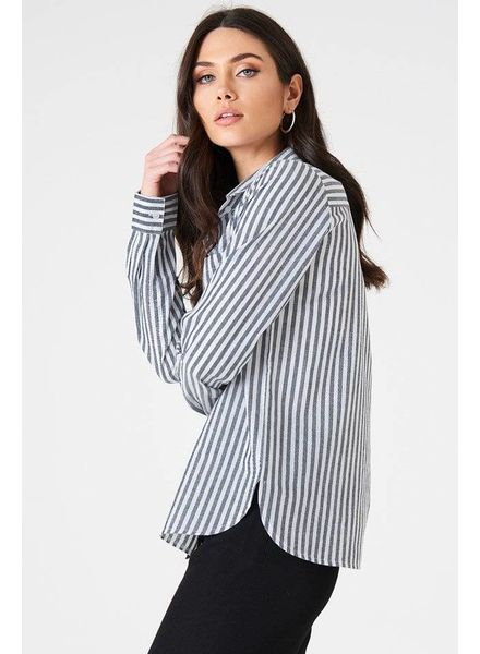 INA STRIPED SHIRT BLUE