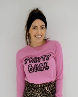 PRETTY BABE PINK SWEATER