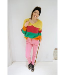 PINK TRACKPANTS STRIPED