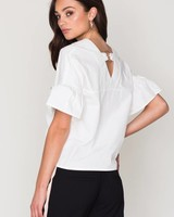 RING FRILL TOP WHITE