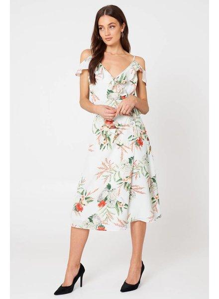 NELLA FRILL DRESS FLOWER PRINT