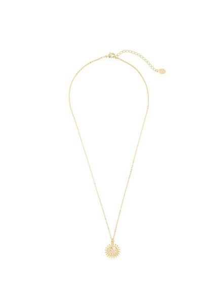 SMILING SUN NECKLACE GOLD
