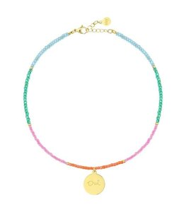 BEADS & COIN ANKLET OUI GOLD