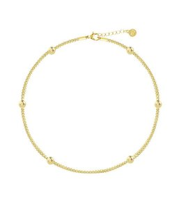 CHAIN & DOTS ANKLET GOLD