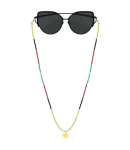 SUNGLASSES CORD EYE GOLD