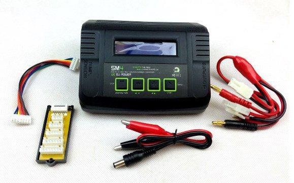 WE Europe Battery Charger SM4 80W LI-FE,LI-PO,NIMH,NICD