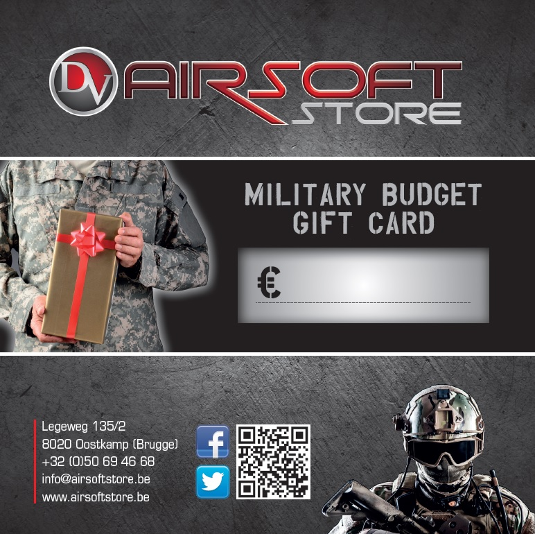 Military Budget Gift Card
