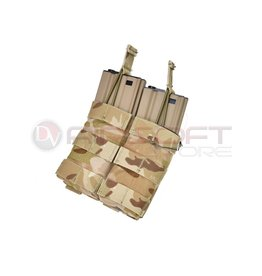 EMERSON Double Open Top  5.56 Mag Pouch - MC Arid
