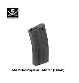 PIRATE ARMS M4 Magazine - Metal - Mid-Cap - 140rds - BK