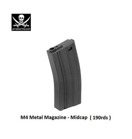 PIRATE ARMS M4 Magazine - Metal - Midcap - 190rds - BK