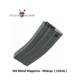 King Arms M4 Magazine - Midcap - 120rds - BK