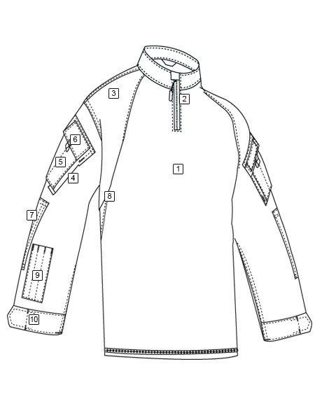 TRU-SPEC TRU 1/4 ZIP COMBAT SHIRT - MC BK