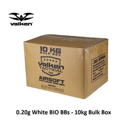 VALKEN BBs - V Tactical 0.20g BIO Precision-10kg Bulk Box-White