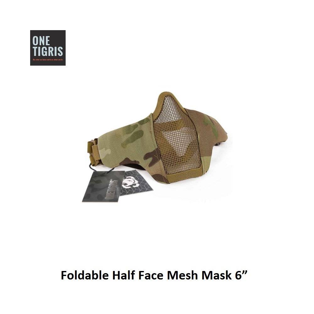 One Tigris Foldable Half Face Mesh Mask 6""
