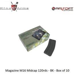 King Arms Magazine M16 Midcap 120rds - TAN - Box of 10