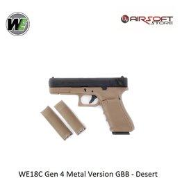 WE Europe WE18C Gen 4 Metal Version GBB - Desert