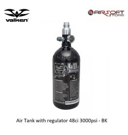VALKEN Air Tank with regulator 48ci 3000psi - BK