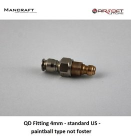 Mancraft QD Fitting 4mm - Standard US - Paintball Typ nicht fördern