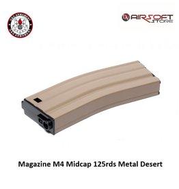 G&G Magazine M4 Midcap 125rds Metal Desert