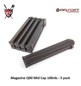 King Arms Magazine P90 Mid Cap 100rds - 5 pack