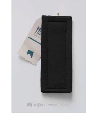 N&N Horse Design Kinnschoner/Curb Pad, Schwarz/Black