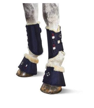 Eskadron Soft Tendon Boots Fauxfur Front, Just Blue