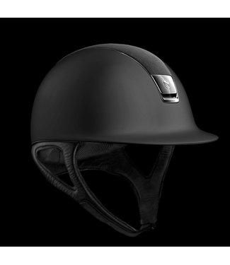 Samshield Shadowmatt Black, Shield Swarovski Alcantara Black, Chrome Black Trim, Black Chrome Blazon