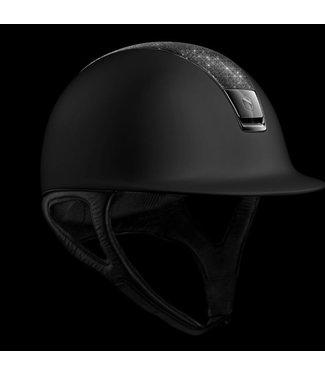 Samshield Shadowmatt Black, Crystal Fabric Swarovski Black, Chrome Black Trim, Black Chrome Blazon