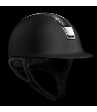 Samshield Shadowmatt Black, Shimmer Black, Titanium Trim, Chrome Blazon