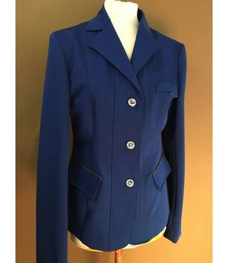 Couture Hippique Jacket Jumping, Kings Blue, Flower Button