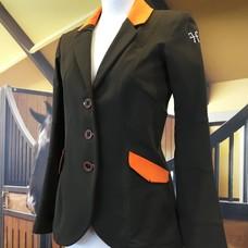 HorsePilot Veste Tailor Made Femme, Taupe/Orange