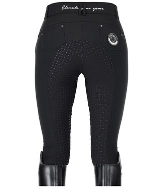 HV Polo Breeches in softshell quality, with several luxurious embroideries and glitter badge. Silicone fullseat
