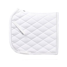 SD Classic Saddle Pad in White & Silver