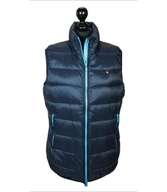Equiline Man Down Vest Aryton with blue zip