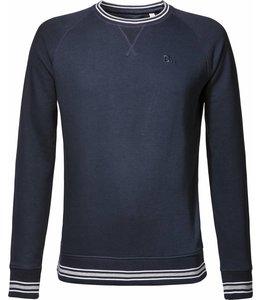 Frans donkerblauw, biologisch katoenen trui
